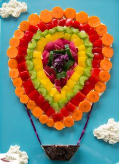 Fun Salad Hot Air Balloon  ~ theartofnutrition.com ~ #foodart #foodcrafts