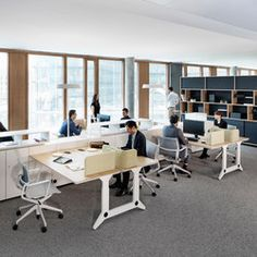 Kinzo is an architectural office based in Berlin, working on the cutting edge of interior architecture and design. Open Office, Office Desk, Office Spaces, Lift Table, Work Station Desk, Office Interiors, Interior Architecture, The Unit, Furniture