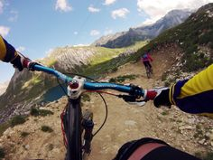 Tignes Bike Park - Photo taken with a GoPro on the Chesty mount