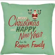 A beautifully crafted and luxurious Christmas cushion  Wish all your guests a Merry Christmas from your family and display it year after year as it is a timeless design  A stunning retro christmas,cushion is simply stylish with handpicked type to compliment such a precious announcement, this will make a lovely gift.  Cushion has a zip fastening and to the back and a heavy suede white panel.  High Quality Suedette heavy weight 220gsm  High Gra...