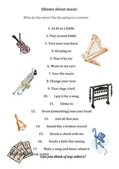 Idioms About Music
