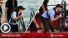 Kate Middleton -- Duchess Crushess Prince William at Sea ~ Video