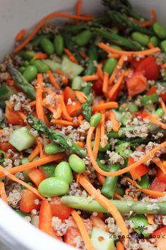Quinoa Summer Veggie Salad with Ginger Vinaigrette. V. GF.