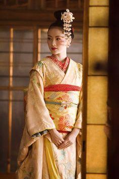 "Sayuri's kimono in ""Memoirs of a Geisha"""