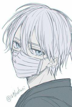 Anime Boy Sketch, Anime Drawings Sketches, Cool Art Drawings, Anime Character Drawing, Manga Drawing, Manga Art, Art Anime Fille, Anime Art Girl, Anime Boy Hair