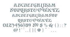 Letterform Design Font / LHF Grindle Glyph Set / Art Nouveau / Vintage, Decorative Roman Font