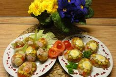 Jak připravit velikonoční aspik   recept Sprouts, Potato Salad, Potatoes, Eggs, Vegetables, Breakfast, Ethnic Recipes, Food, Morning Coffee