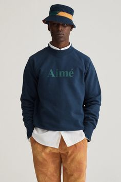 Aimé Leon Dore's Collection is Riviera-Ready: With collegiate elements and workwear looks contrasting the pastel tones. Tumblr Fashion, Fashion Images, Jumper, Zip Sweater, Aime Leon Dore, Lookbook, Mood, Swagg, T Shirt