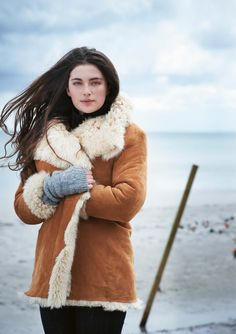 gorgeous shearling wrap coat -- perfect for cold, cold vermont winters!  -- toast