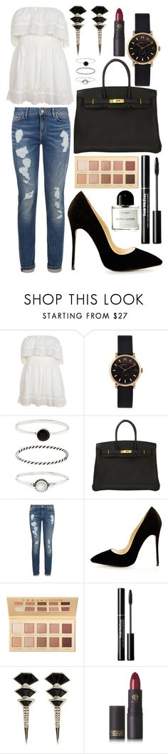"""Untitled #1612"" by elizabeth-xsomosmasqueamorr ❤ liked on Polyvore featuring Miss Selfridge, Marc by Marc Jacobs, Accessorize, Hermès, Tommy Hilfiger, LORAC, Nak Armstrong, Lipstick Queen and Byredo"