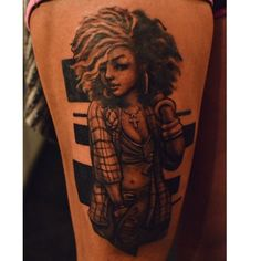 Tattoo by Melvin Todd  #cityofinkedgewood #cityofink #cityofinkatlanta #hipsterblackgirls #mixedgirls #tattoos