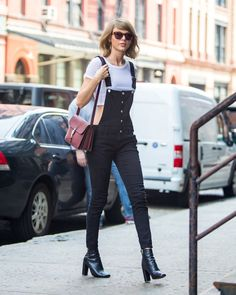 Taylor Was Decidedly Edgy When She Went For an Overall Silhouette