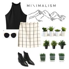 ▪️MINIMALISM▪️ by miraclle on Polyvore featuring polyvore, fashion, style, Chicnova Fashion, H&M, Acne Studios, Una-Home and clothing