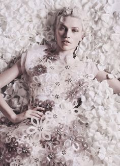 Aline Weber wearing Louis Vuitton S/S 2012 in 'In Love' by Liz Collins for Numero April 2012 (#132)