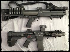 KSG Shotgun vs Pistol AR-15