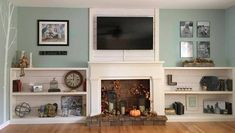 10 Achieving Cool Tricks: Living Room Remodel With Fireplace Spaces living room remodel ideas mobile homes.Livingroom Remodel Mobile Homes small living room remodel square feet.Living Room Remodel With Fireplace Interior Design. Fireplace Bookshelves, Shiplap Fireplace, Faux Shiplap, Small Fireplace, Fireplace Remodel, Living Room With Fireplace, Fireplace Surrounds, Fireplace Design, My Living Room