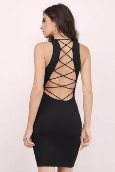 28040930ed Think Straight Lace Up Midi Dress