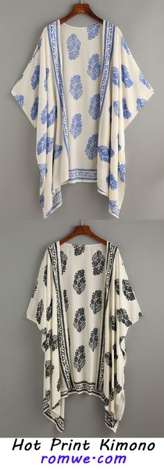 We are so in love with this 90s printing look. This kimono is crafted from half sleeve and high-low hem. The whole loose fit means it will float elegantly as you move.