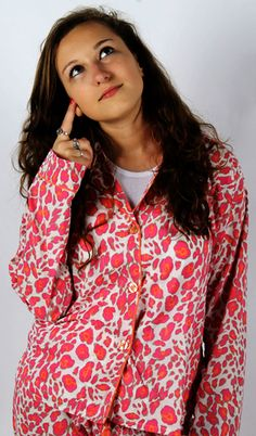 "PJ Salvage ""Leopard"" Women's Cotton Pajama Set"