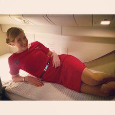 Virgin Australia Stewardess in B777 crewrest