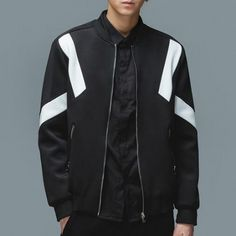 32c474b03a1 Color block bomber jacket for men stand collar jacket coat Bomber Jacket Men