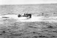 The German submarine U-550 sank stern first near the waters off Nantucket in 1944.