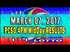 PCSO MidDay - 4PM Results March 07, 2017 (EZ2 & SWERTRES)
