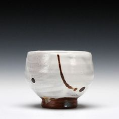 Tim Lake, drinking bowl -      stoneware with slip, glaze and red river silt