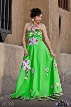 """""""Indian Girls Go to Balls Too"""" ball gown, by JT Willie (Diné) and modeled by Amber Shane Benallie (Diné) Native American Wedding, Native American Regalia, Native American Clothing, Native American Beauty, American Indians, Navajo, Jingle Dress, Ribbon Skirts, Best Prom Dresses"""