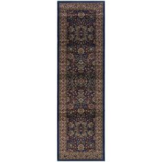 Updated Old World Persian Flair Blue/ Red Rug (2'7x9'4)