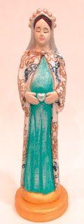 Ateliê Le Mimo: RELIGIOSO  Nossa Senhora grávida - peça em gesso