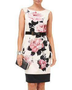 Day at the Races | Multi Carrera Rose Dress | Phase Eight