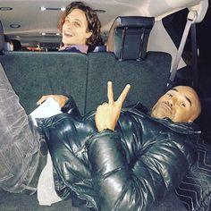 Road Trip...  Baby Boy and Pretty Ricky!!! Criminal Minds Goofballin!!! @gublergram