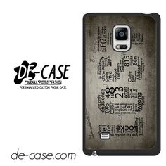 Lost TV Series Quotes Game DEAL-6651 Samsung Phonecase Cover For Samsung Galaxy Note Edge
