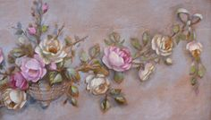 Floral Ornament French aubusson style Roses by Helen Flont