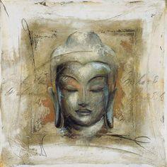 Buy Elvira Amrhein- Innerer Friede Buddha Framed Print, 88 x from our Pictures range at John Lewis & Partners. Buddha Face, Buddha Zen, Buddha Buddhism, Buddhist Art, Buddha Kunst, Peace Poster, Art Asiatique, Buddha Painting, Peace Art