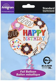 Anagram International Hx Donuts Happy Birthday Balloon Multicolor ** You can get more details by clicking on the image. (This is an affiliate link)