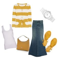 cute..I love stripes but they do not love me....lol  I would wear this with a solid color cardigan