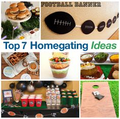Top 7 Homegating Ideas for football! #homegating #football #entertaining