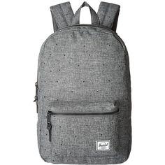 Herschel Supply Co. Settlement Mid-Volume (Scattered Raven Crosshatch)... ($60) ❤ liked on Polyvore featuring bags, backpacks, padded laptop bag, padded bag, strap backpack, zip bag and strap bag