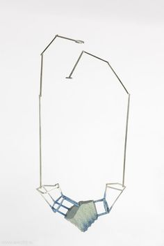 Carolina Martinez Linares - (x-2, y-14) (x3, y-13), necklace, 2012, polyurethane, silver - 280 x 120 x 40 mm, €1075