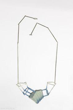 Carolina Martinez Linares - (x-2, y-14) (x3, y-13), necklace, 2012, polyurethane, silver - 280 x 120 x 40 mm, €1075