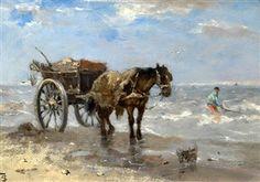 <i>Gathering Seaweed</i> by Johan Frederik Cornelis Scherrewitz
