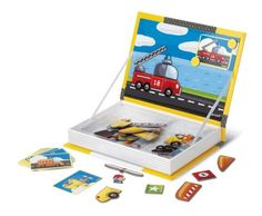 This activity, which is perfect for home or on-the-go play, contains 18 different pictures and 50 different magnetic pieces. Simply put up the card that contains the car or truck your child would like to match then find the pieces in the box to make it. Or they can use their imagination to see what fun and crazy vehicles they can dream up.  #Educational #Creativity #Kids #Children #Toddlers #Toy