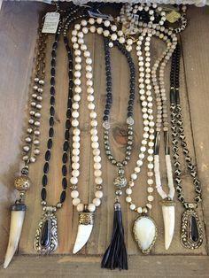 Beaded boho necklaces. Contact lisajilljewelry@gmail.com to purchase. …