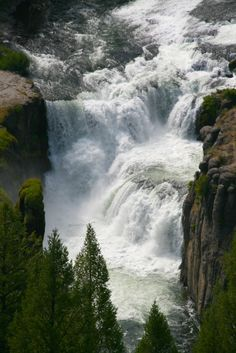 """Lower Mesa Falls is a m) waterfall on the Henrys Fork in Fremont County, Idaho. It is located in the Caribou-Targhee National Forest on the Mesa Falls Scenic Byway. Places to See Before You Die/ A Traveler's Life List"""" by Patricia Schultz) Oh The Places You'll Go, Places To Travel, Places To Visit, Beautiful Waterfalls, Beautiful Landscapes, Les Cascades, Photos Voyages, Parcs, Amazing Nature"""