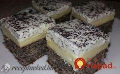 Makovo-jablkový krémeš: Toto je jasný kráľ jesenných zákuskov! Hungarian Recipes, Pudding, Cheesecake, Good Food, Food And Drink, Sweets, Baking, Ale, Poppy