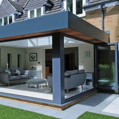 Modern Style Orangery from Rococo Orangery Extension Kitchen, Orangerie Extension, Extension Veranda, House Extension Plans, Conservatory Extension, House Extension Design, Extension Designs, Glass Extension, Modern Conservatory