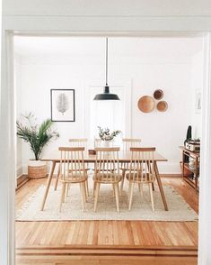 Boho Kitchen and Dining Room Inspiration - Nikola Kosterman Dining Room Sets, Dining Room Design, Ikea Dining Room, Dining Room Inspiration, Home Decor Inspiration, Life Inspiration, Minimalist Dining Room, Minimalist Bedroom, Minimalist Decor