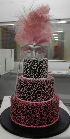 Masquerade cake. Again yes, except purple